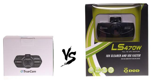 DOD vs TrueCam, LS470W vs A7s, Porovnanie kamier, DOD, TrueCam
