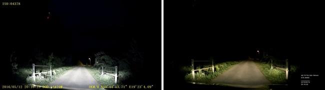 DOD LS470W vs Truecam A7s nočné video porovnanie