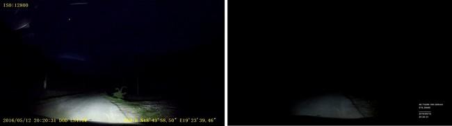 DOD LS470W vs Truecam A7s noc záznam